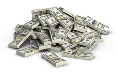 Pilha de $100 Imagens de Stock