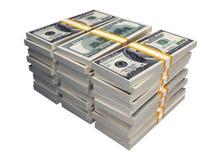 Pilha de $100 contas Imagem de Stock