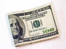 Pilha de 100 contas Imagem de Stock Royalty Free