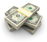 Pilha de $100 contas Foto de Stock