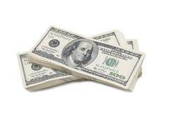 Pilha de $100 contas Fotografia de Stock