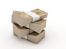 Pilha de 10000 contas dos ienes Imagens de Stock Royalty Free