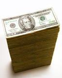 Pilha de 20 contas de dólar Fotografia de Stock