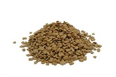 Pilha de alimentos para animais de estimação secados, alimento para cães Fotografia de Stock