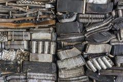 Pilha de alumínio das peças do carro Fotografia de Stock