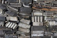Pilha de alumínio das peças do carro Imagem de Stock