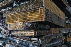 Pilha de alumínio das peças do carro Fotos de Stock