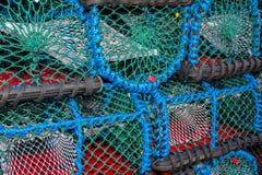 Pilha de armadilhas da lagosta Fotos de Stock