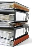 Pilha de arquivos do escritório Foto de Stock Royalty Free