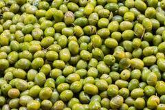 Pilha de azeitonas frescas Fotos de Stock