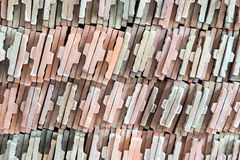 Pilha de azulejo Foto de Stock