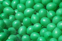 Pilha de balões verdes Fotos de Stock Royalty Free