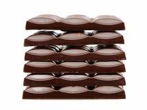 Pilha de barras de chocolate imagens de stock