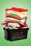 Pilha de bed-clothes | Trajetos de grampeamento Fotografia de Stock