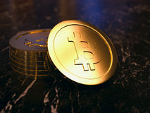 Pilha de Bitcoins Foto de Stock