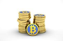 Pilha de bitcoins Fotografia de Stock