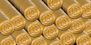 Pilha de bitcoins ilustração royalty free