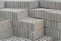 Pilha de blocos de cimento Fotos de Stock