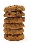 Pilha de bolinhos de microplaqueta de chocolate Fotos de Stock