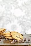 Pilha de bolinhos de microplaqueta de chocolate Fotografia de Stock