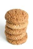 Pilha de bolinhos de oatmeal imagens de stock