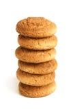 Pilha de bolinhos de oatmeal fotos de stock