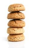 Pilha de bolinhos de oatmeal fotografia de stock royalty free