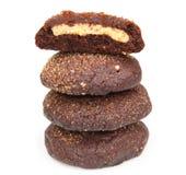 Pilha de bolinhos do chocolate Imagem de Stock Royalty Free
