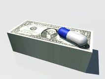 Pilha de cápsula da moeda ilustração stock