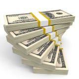Pilha de cédulas do dólar Imagem de Stock Royalty Free