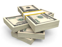 Pilha de cédulas do dólar Foto de Stock Royalty Free