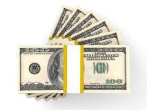 Pilha de cédulas do dólar Imagens de Stock