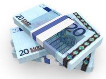Pilha de cédulas do EURO Imagem de Stock