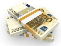 Pilha de cédulas do EURO Imagens de Stock Royalty Free