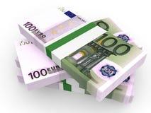 Pilha de cédulas do EURO Imagens de Stock