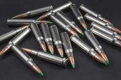 Pilha de círculos balísticos do rifle da ponta Imagens de Stock