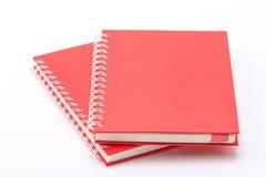 Pilha de cadernos da cor vermelha Fotografia de Stock Royalty Free