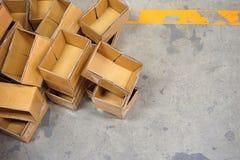 Pilha de caixa da caixa Fotografia de Stock
