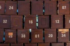 Pilha de caixa da caridade do ` s da mesquita Imagem de Stock Royalty Free