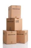 Pilha de caixas Fotos de Stock