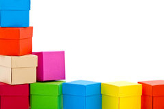 Pilha de caixas coloridas foto de stock royalty free