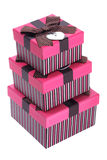 Pilha de caixas de presente imagens de stock royalty free