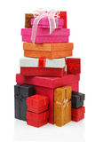 Pilha de caixas de presente Foto de Stock
