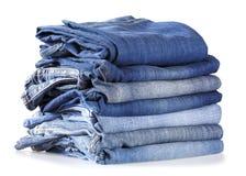 Pilha de calças de brim Imagem de Stock Royalty Free