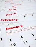 Pilha de calendários mensais Foto de Stock Royalty Free