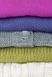 Pilha de camisolas Imagem de Stock