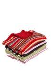 Pilha de camisolas maravilhosas. Fotos de Stock