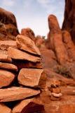 Pilha de Carin no parque nacional dos arcos Fotos de Stock Royalty Free