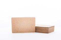 Pilha de cartão vazio no fundo branco Imagem de Stock Royalty Free