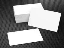 Pilha de cartões conhecidos em branco Imagem de Stock